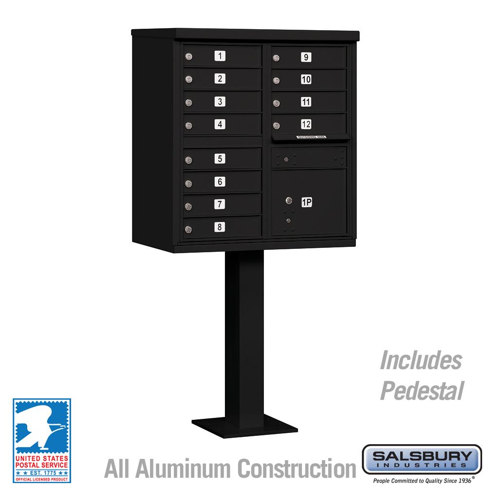 Salsbury Industries cluster box unit locking mailbox 12A black