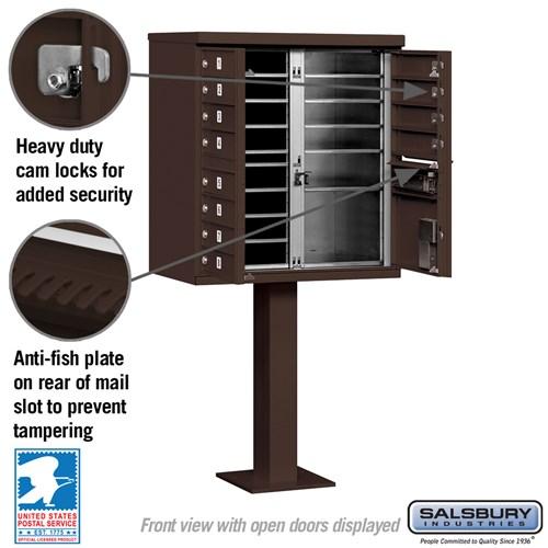 Salsbury Industries cluster box unit locking mailbox 12A bronze