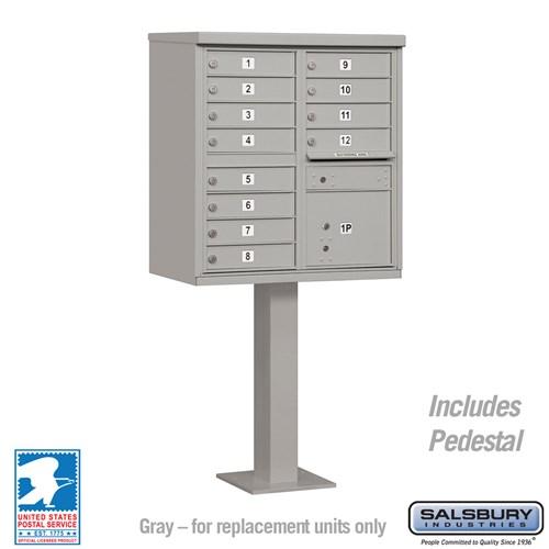 Salsbury Industries cluster box unit locking mailbox 12A gray