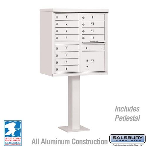 Salsbury Industries cluster box unit locking mailbox 12A white
