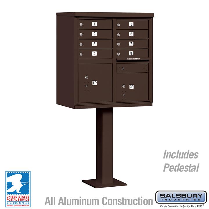 Salsbury 8a cluster box unit locking bronze