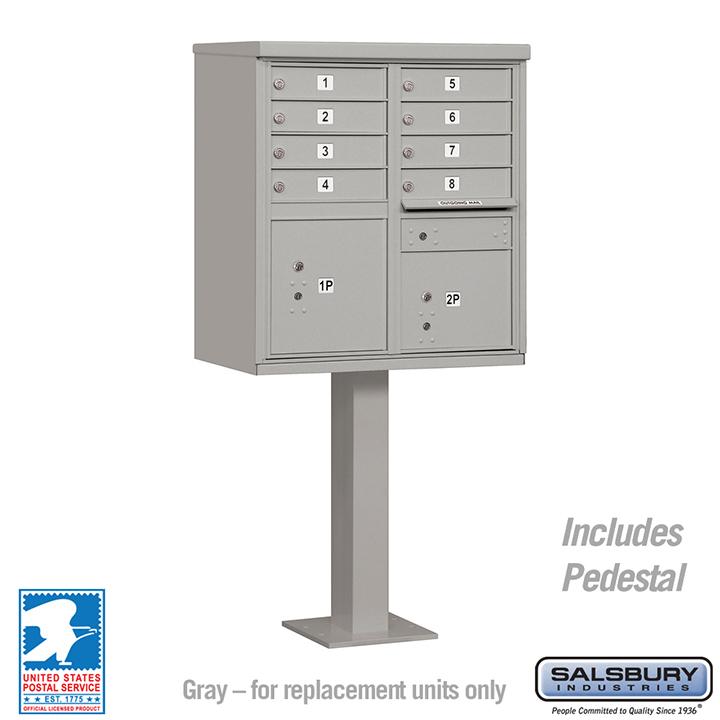 Salsbury 8a cluster box unit locking gray