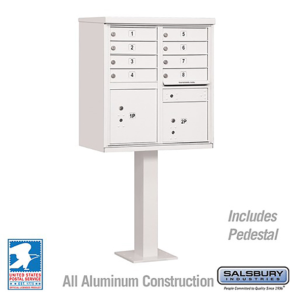 Salsbury 8a cluster box unit locking white