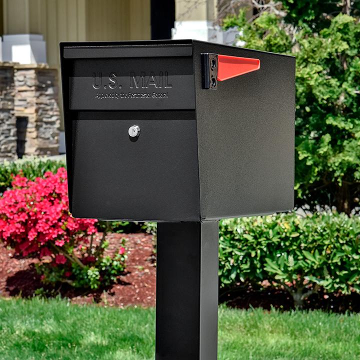 mail boss mailbox black