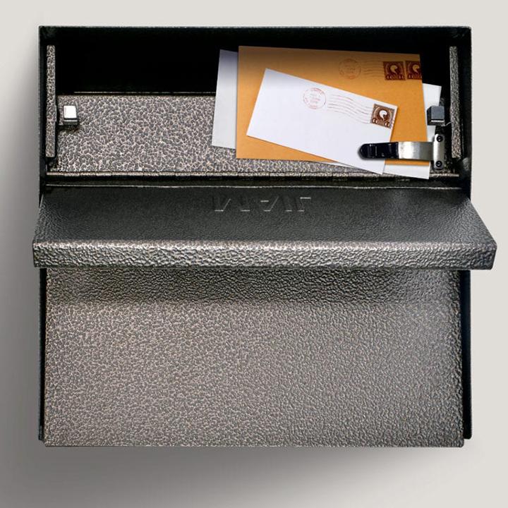 metro locking mail box bronze