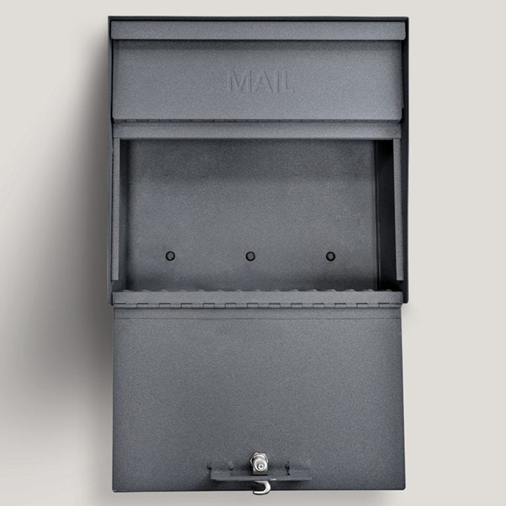 metro locking mail box graphite