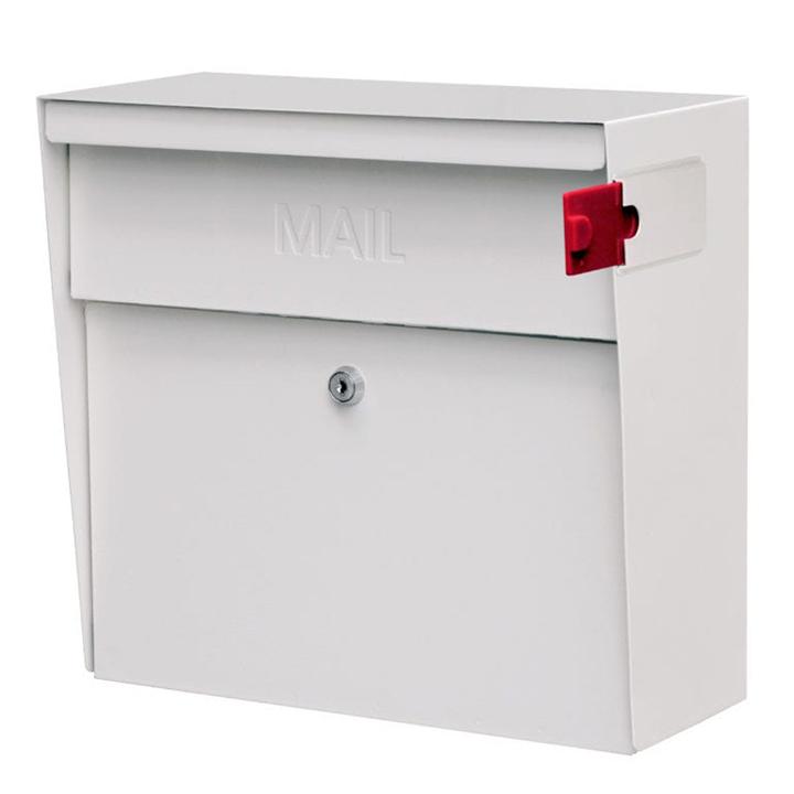 metro locking mail box white