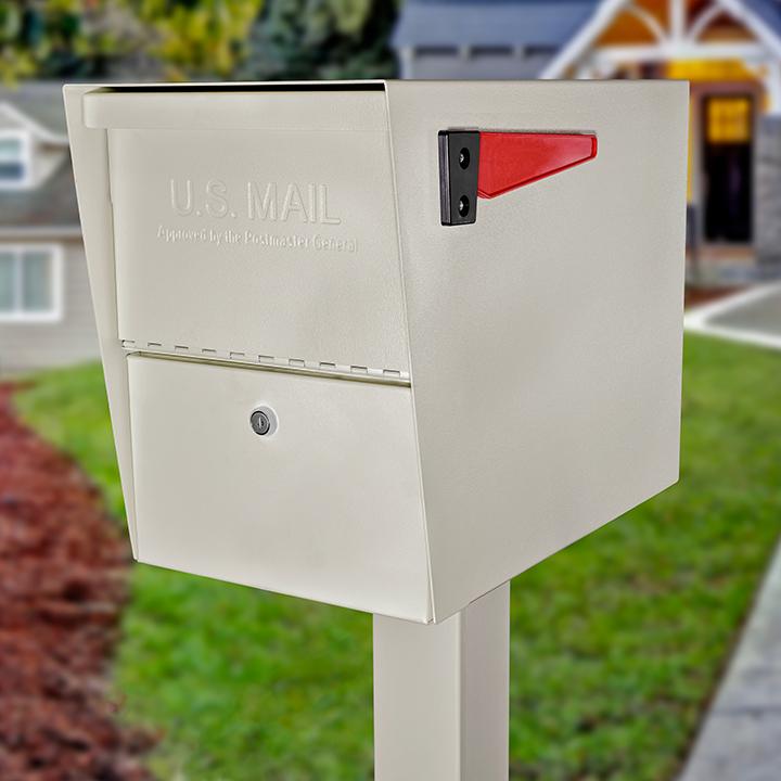 package master locking mailbox white
