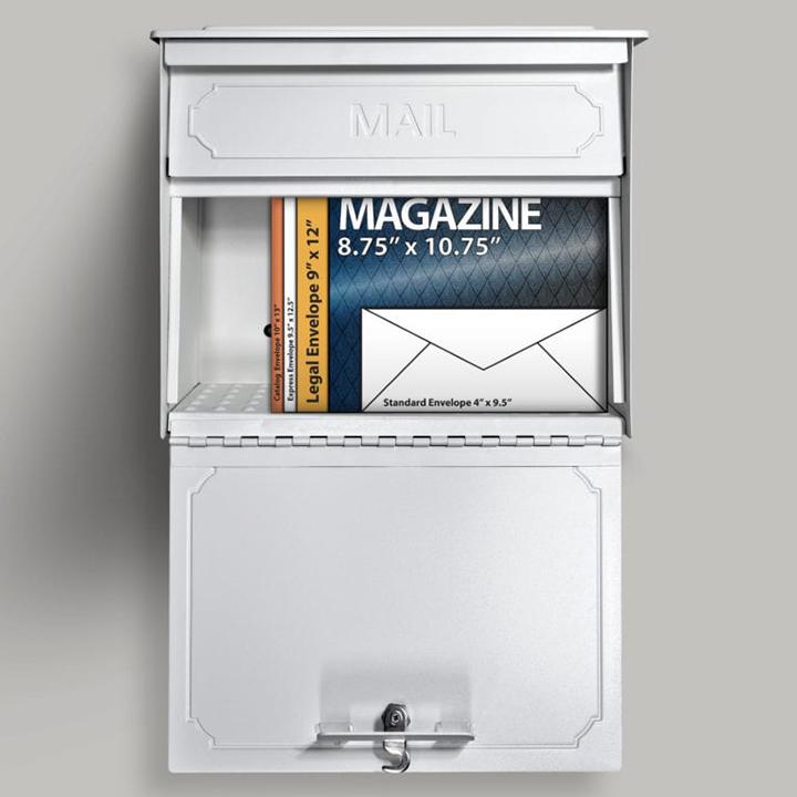 townhouse locking mail boss white